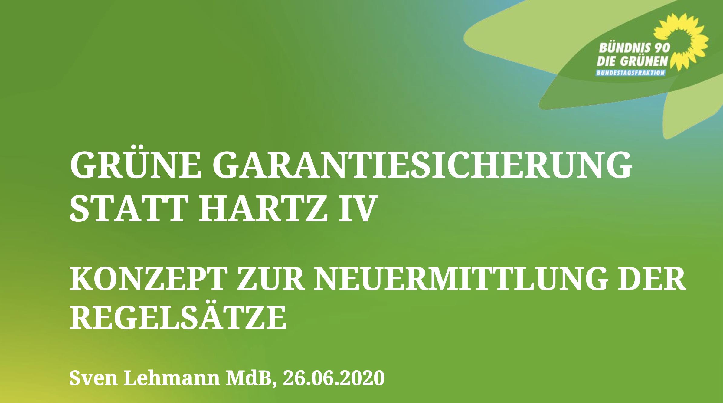 Input Sven Lehmann MdB: Grüne Garantiesicherung